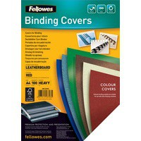 Fellowes FSC Delta Leather Board Cover A4 Red Pack of 100 53703
