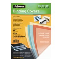 Fellowes Transparent Plastic Cover 240micron Pack of 100 53762