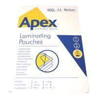 Fellowes Apex Laminating Pouch A4 Medium Duty Clear Pk 100 6003501