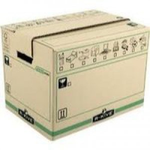 Fellowes R-Kive Moving Box Large Brown/Green Pack of 5 6205301 (FPC)