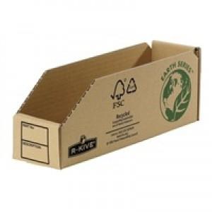 Fellowes Basics Parts Bin Corrugated Fibreboard Packed Flat 76x280x102mm Ref 07352 [Pack 50]