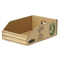 Image for Fellowes Basics Parts Bin Corrugated Fibreboard Packed Flat W200xD280xH102mm Ref 07355 [Pack 50]