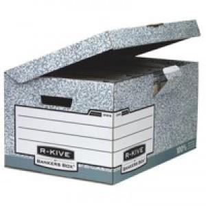 Fellowes R-Kive System Fliptop Storage Box Grey 01815