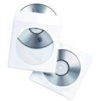 Fellowes CD Envelope Paper White Pack of 100 90691