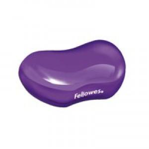 Fellowes Crystal Gel Flex Wrist Rest Purple 91477-72