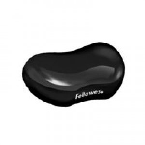Fellowes Crystal Gel Flex Wrist Rest Black 9112301