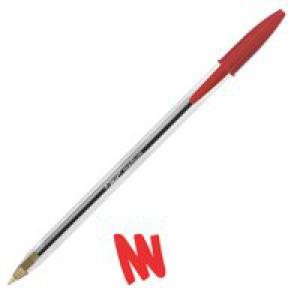 Bic Cristal Medium Ballpoint Pen Red 837361