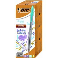 Bic Cristal Large Ballpoint Pen 1.6mm Assorted Pack of 20 895793