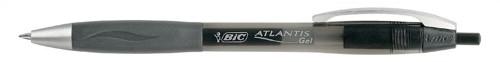 Bic Atlantis Premium Retractable Gel Roller 0.6mm Line Width Black Ref 895795 [Pack 12]