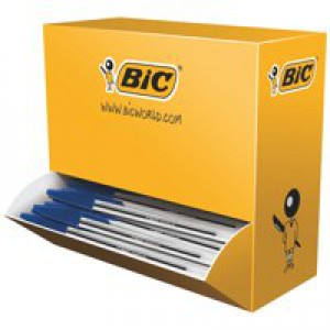 Bic Cristal Medium Ball Point Pen Value Pk Blue 896039