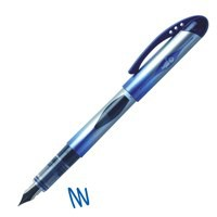 Bic Disposable Fountain Pen with Ink Window Iridium Nib Line 0.7mm Blue Ref 847610 [Pack 12]