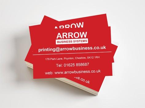 1000 business cards single sided 400gsm silk card arrow office 1000 business cards single sided 400gsm silk card reheart Choice Image