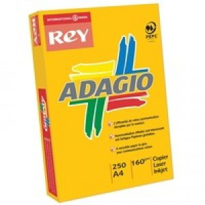 Adagio Card A4 160gsm Orange Pack of 250 AO2116