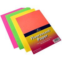 Bright Ideas Fluorescent Copier Paper A4 90gsm Assorted Pack of 100