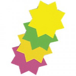 Bright Ideas Ticket Board Star Pack of 50 Assorted BI1040