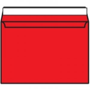Blake C4 Wallet Envelope Peel And Seal 120gsm Pack of 250 Pillar Box Red 406