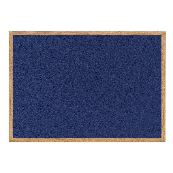 Bi-Silque Earth-It Wood Effect Frame Blue Felt Notice Board 1800x1200mm