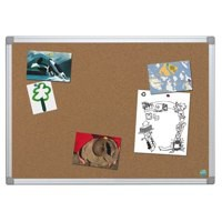 Bi-Office Earth-it Notice Board Cork with Aluminium Frame W1200xH900mm Ref CA51790