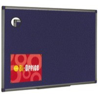 Bi-Office Felt Board 1200x900mm Blue Aluminium Finish FB1443186