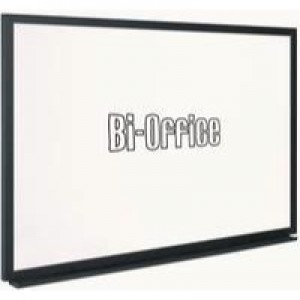 Bi-Office Whiteboard 600x450mm Black Frame MB0400169