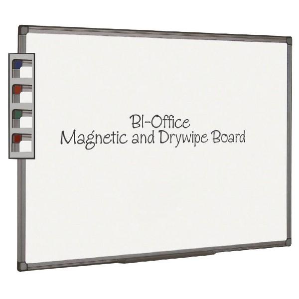 Bi-Office Magnetic Dry Erase Board Aluminium Frame White