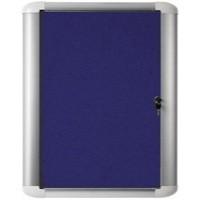 Bi-Office External Display Case 600x600mm Blue Felt Aluminium Frame VT620107230