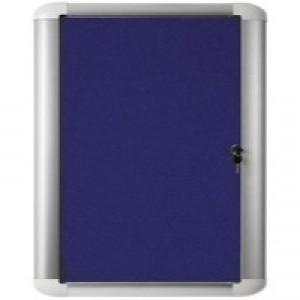 Bi-Office External Display Case 900x600mm Blue Felt Aluminium Frame VT630107230