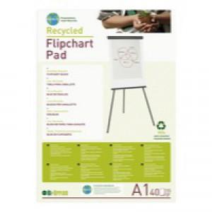 Bi-Office Earth-it Plain Recycled Flipchart Pad A1 Code FL0111801