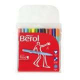Berol Colourfine Pen Assorted Water Based Ink Wallet of 12 CF12W12 S0376340