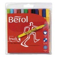 Berol Colourbrush Pen Assorted Water Based Ink Wallet of 12 CBR12W12 S0375830