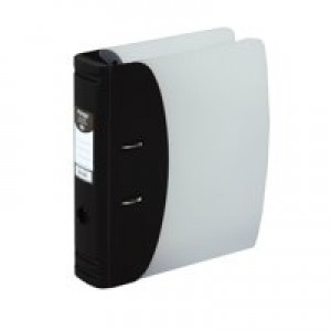Hermes Lever Arch File Heavy Duty A4 60mm Capacity Black 832001