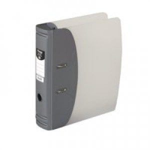 Hermes Lever Arch File Heavy Duty A4 60mm Capacity Metallic Silver 832006