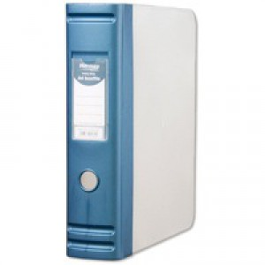 Hermes HD 80mm Polypropylene Box File A4 2D-Ring Blue 8.BA4.007