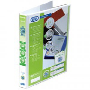 Elba A4 25mm 4D-Ring Presentation Binder White 400001391