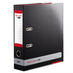 Black n Red by Elba Lever Arch File A4 80mm Spine Black