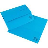 Elba Bright Manilla Document Wallet 290gsm Foolscap Blue 100090140