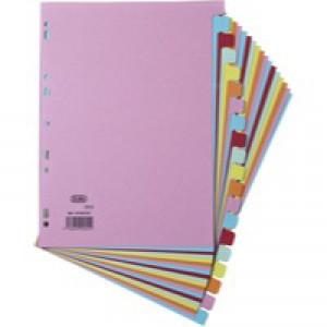 Elba Card Divider A4 20-Part Assorted 100080775