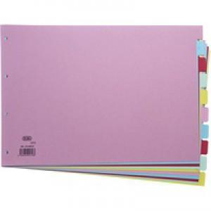 Elba Card Divider A3 10-Part Assorted 100080772