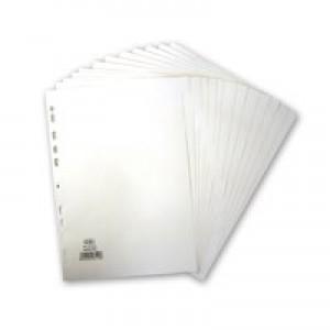 Elba Divider A4 12-Part 160gsm White 400007502