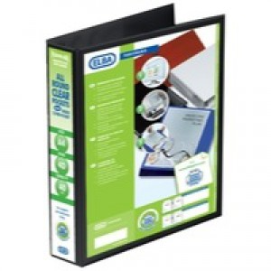 Elba Panorama Presentation Binder A4 4D-Ring 40mm Black 400008417