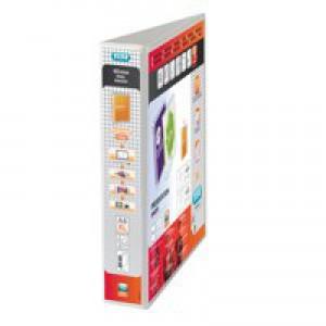 Elba Presentation Ring Binder PVC 2 D-Ring 25mm Capacity A5 White Ref 400008434 [Pack 6]