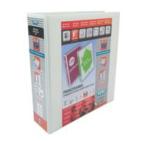 Elba Panorama Presentation Lever Arch File A4 70mm White 400008436