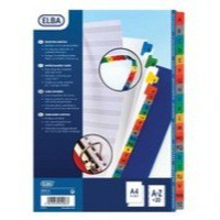 Elba A4 Extra-Wide Mylar Multi-Coloured Index A-Z 100204603