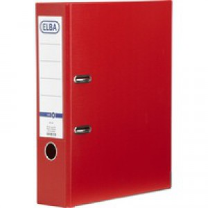 Elba Board Lever Arch File A4 Red 100202218