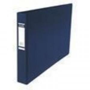 Bantex 4D-Ring Binder PVC A3 30mm Oblong Blue 100080865