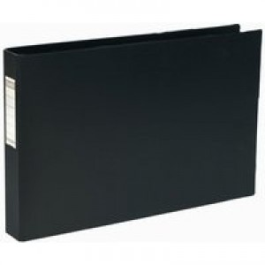 Bantex 4D-Ring Binder PVC A3 30mm Oblong Black 400000113