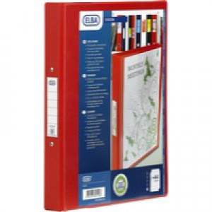 Bantex Vision 2-Ring Binder A4 25mm Red 100080890