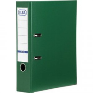 Elba Lever Arch File PVC A4 Upright 70mm Green 100080899