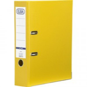 Elba Lever Arch File PVC A4 Upright 70mm Yellow 100080901