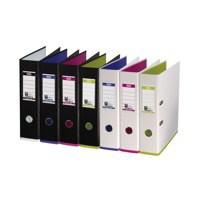Mycolour A4 Lever Arch File Black/Pink Each